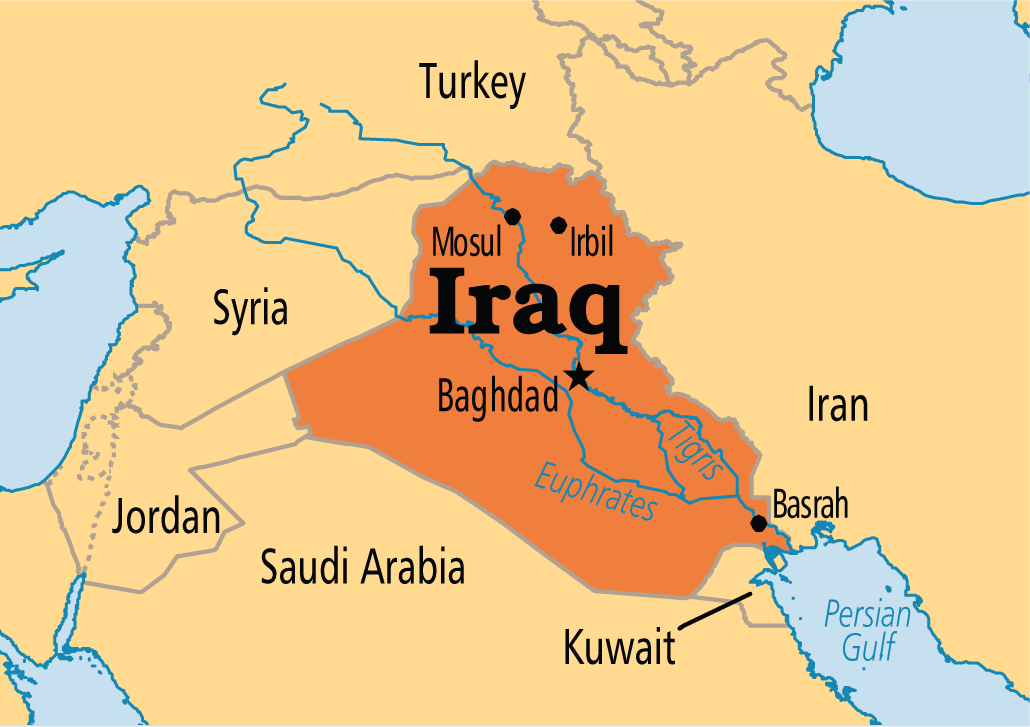 US Air Forces Attack Iraqi Army Under Mosul Katehon Think Tank - Map showing us and iraq