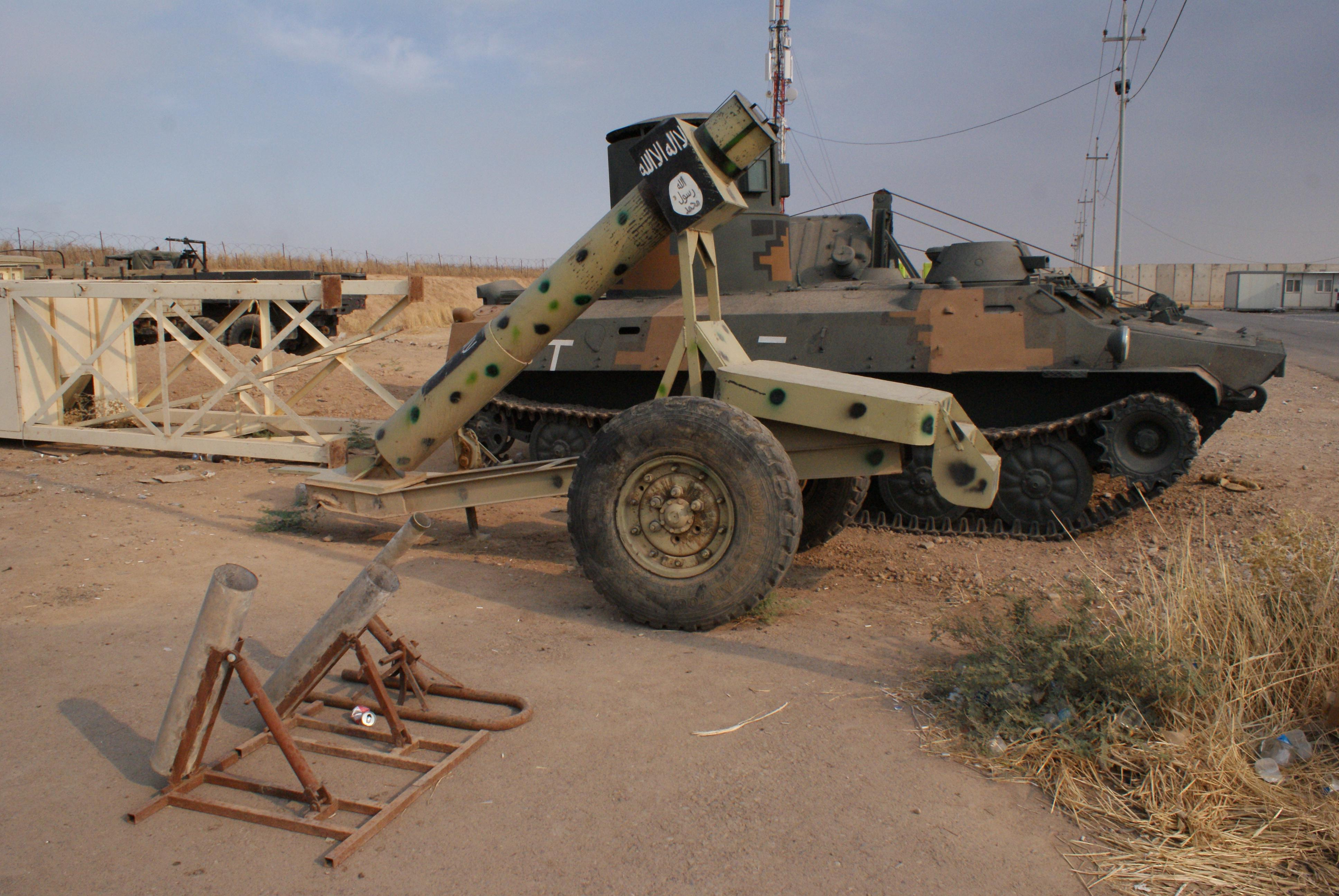 Improvised weapons and vehicles of ISIS