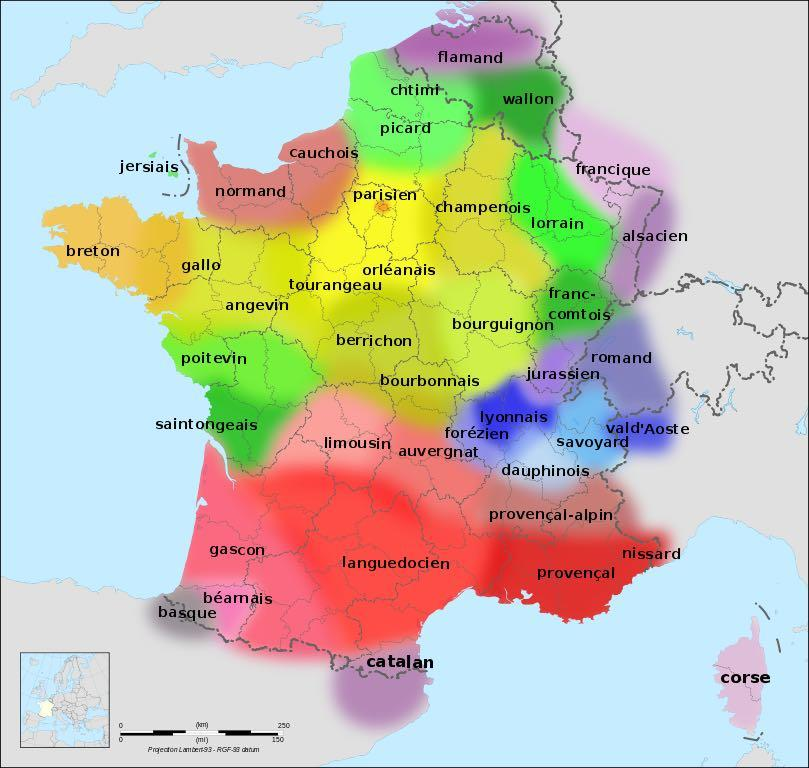Language Map of France